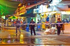 Ataque ácido em Hong Kong Fotografia de Stock Royalty Free