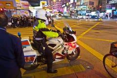 Ataque ácido en Hong Kong Fotos de archivo libres de regalías
