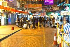 Ataque ácido en Hong Kong Foto de archivo