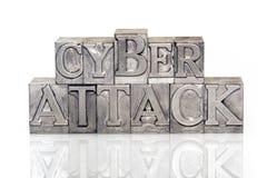 Ataque cibernético foto de archivo