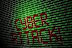 Ataque cibernético foto de archivo libre de regalías
