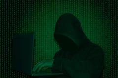 Ataque cibernético del ‹del †del ‹del †Peligro de cortar la base de datos Sujeción de la red fotografía de archivo libre de regalías