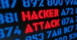 Ataque cibernético del pirata informático del ataque Fotos de archivo