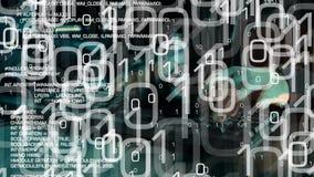 Ataque cibernético del pirata informático, futuro del delito informático almacen de video