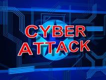 Ataque cibernético por el ejemplo criminal 3d de Corea del Norte libre illustration