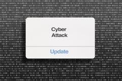 Ataque cibernético sobre la cartulina negra stock de ilustración