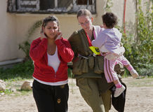 Ataque com mísseis em Israel. Fotos de Stock