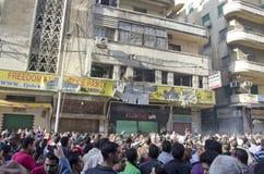 Ataque contra oficinas de partido de la libertad y de la justicia Foto de archivo