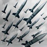 Ataque da arma do míssil ilustração stock