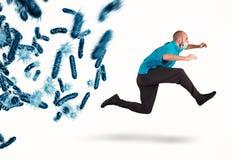 Ataque das bactérias rendição 3d foto de stock royalty free