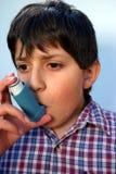 Ataque de asma Fotografia de Stock Royalty Free