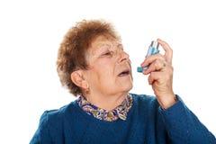 ataque de asma fotografía de archivo libre de regalías