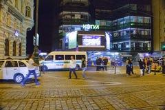 Ataque de bomba falso en Praga Imagen de archivo libre de regalías