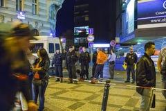 Ataque de bomba falso en Praga Fotografía de archivo