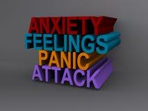 Ataque de la ansiedad y de pánico ilustración del vector