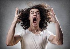Ataque de nervios foto de archivo libre de regalías