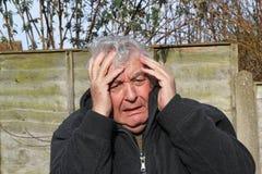 Ataque de pânico do homem Fotos de Stock Royalty Free