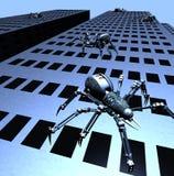 Ataque de Robospiders ilustração do vetor