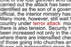 Ataque de terror Fotografia de Stock Royalty Free