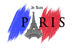 Ataque de terror de Paris fotos de stock royalty free