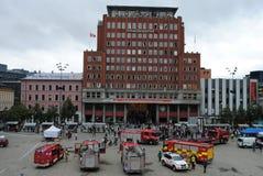 Ataque de terrorista em Oslo, Noruega Fotos de Stock Royalty Free