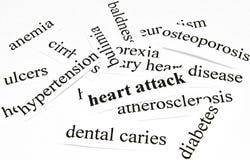 Ataque del corazón. Concepto de la atención sanitaria de enfermedades causadas por la nutrición malsana Fotografía de archivo libre de regalías