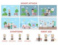 Ataque del corazón infographic ilustración del vector