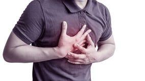Ataque del coraz?n que ocurre con los hombres foto de archivo