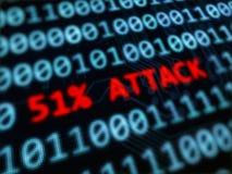 ataque del 51% en blockchain Fotografía de archivo