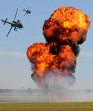 Ataque del helicóptero foto de archivo libre de regalías