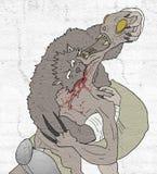 Ataque del lobo stock de ilustración
