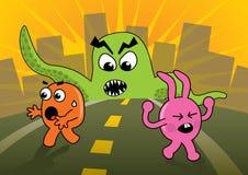 ¡Ataque del monstruo! Imágenes de archivo libres de regalías