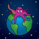 Ataque del monstruo púrpura Imagen de archivo