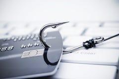 Ataque del phishing de la tarjeta de crédito imagenes de archivo