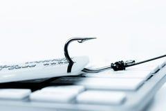 Ataque del phishing de la tarjeta de crédito imágenes de archivo libres de regalías