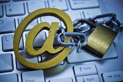 Ataque del phishing del correo electrónico Imagen de archivo
