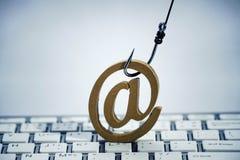 Ataque del phishing del correo electrónico Fotos de archivo libres de regalías