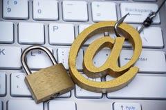 Ataque del phishing del correo electrónico Foto de archivo libre de regalías