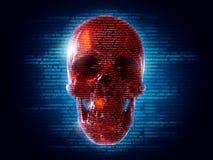 Ataque del pirata informático Foto de archivo
