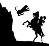 Ataque del puma Foto de archivo libre de regalías