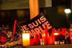 Ataque del terrorismo de Charlie Hebdo Fotografía de archivo libre de regalías