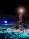 Ataque del tiburón ilustración del vector