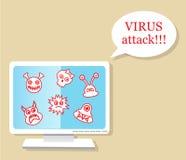 Ataque del virus Imagenes de archivo