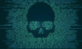 Ataque del virus y concepto criminal stock de ilustración
