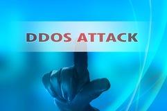 Ataque distribuído em linha dos serviços da recusa Fotografia de Stock Royalty Free