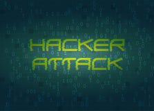 Ataque do cabouqueiro Conceito do fundo da tecnologia Imagem de Stock