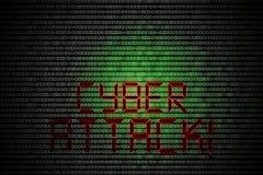 Ataque do Cyber Imagens de Stock Royalty Free