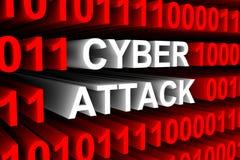 Ataque do Cyber Imagens de Stock