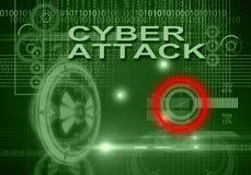 Ataque do Cyber Foto de Stock Royalty Free