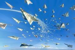 Ataque do dinheiro! conceito do vencedor 3d Foto de Stock